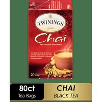 (4 Boxes) Twinings of London Chai Tea Bags, 20 Ct., 1.41 oz.