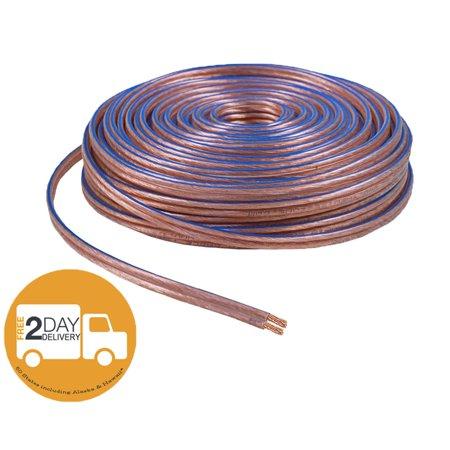 car home audio speaker wire transparent clear cable 12awg 100ft 12 2 gauge. Black Bedroom Furniture Sets. Home Design Ideas