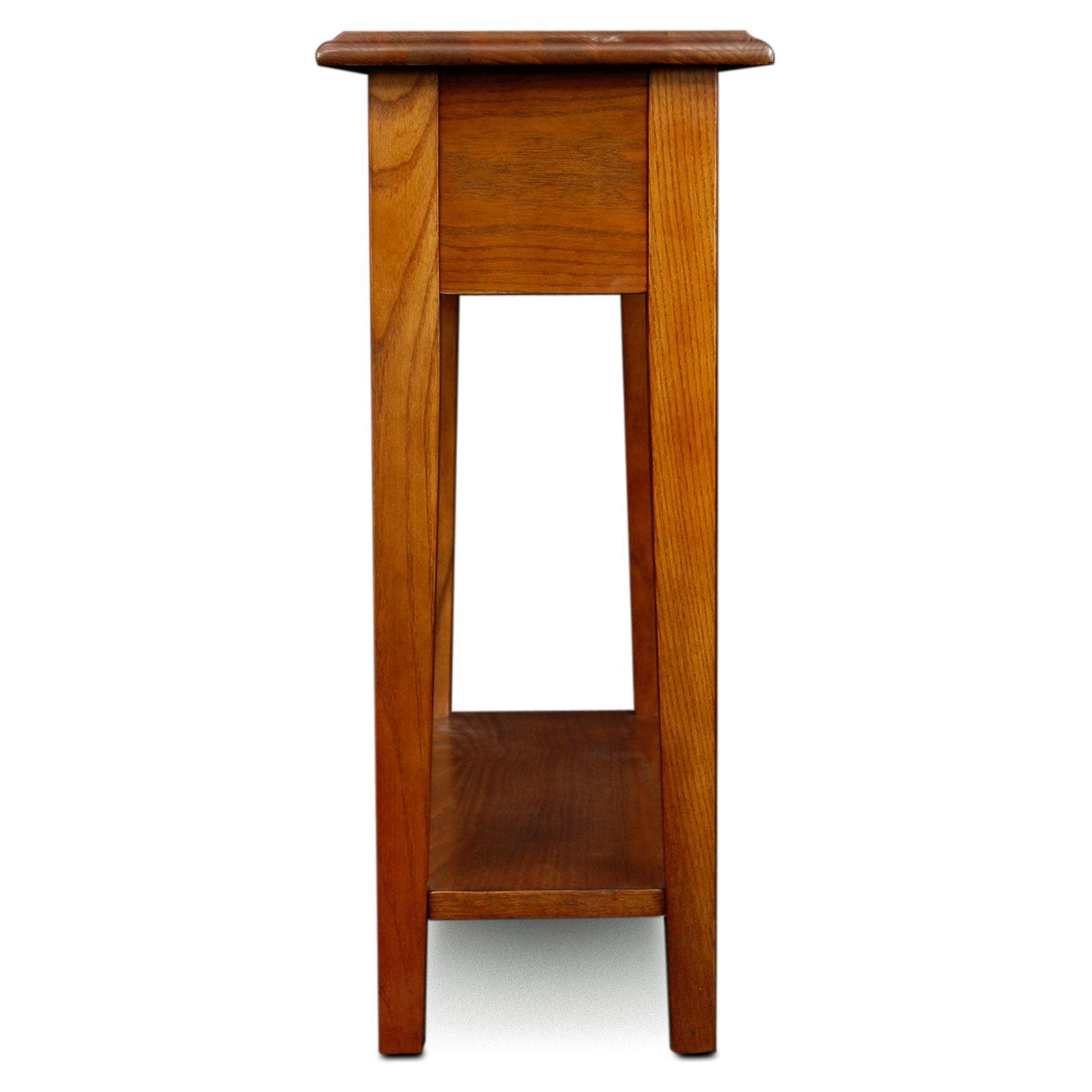 Hardwood 10 Inch Chairside End Table In Medium Oak   Walmart.com