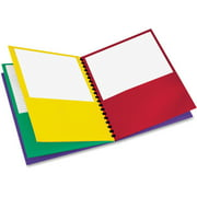 Oxford Eight-Pocket Project Organizer, Red, Green, Yellow, Purple, 1 Each (Quantity)