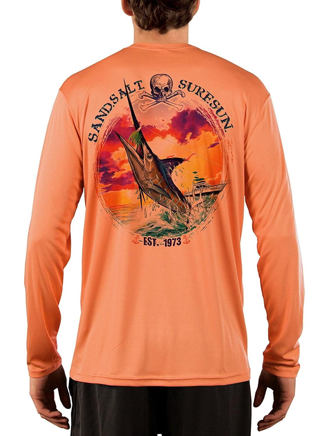 Blue Marlin Sunset Men/'s UPF 50 UV//Sun Protection Long Sleeve T-Shirt