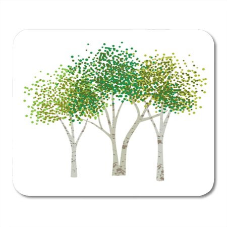 KDAGR Brown Abstract Aspen Birch Trees Clipart Green Botany Branch Cluster Mousepad Mouse Pad Mouse Mat 9x10 - Office Clipart