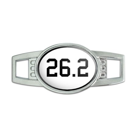 (26.2 - marathon - runner Oval Slide Shoe Charm)
