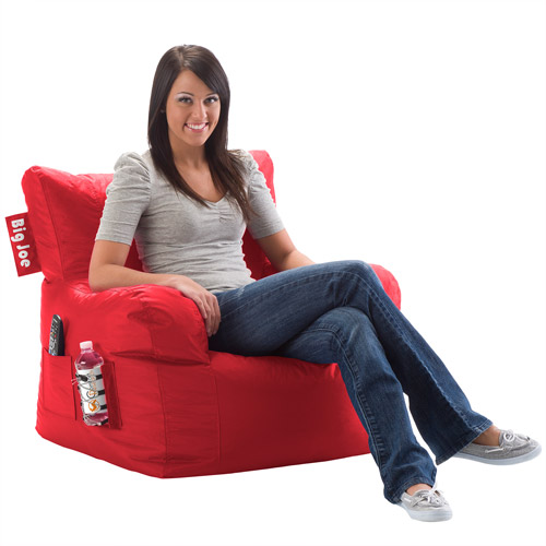 Big Joe Bean Bag Chair, Red