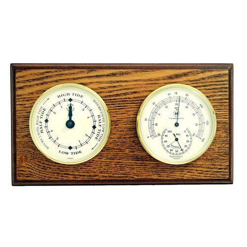 Breakwater Bay Duarte Tide Wall Clock with Thermometer and Hygrometer