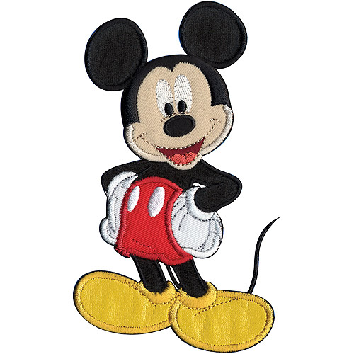 "Wrights Disney Iron-On Applique, 5"" x 3-1/4"", Mickey Mouse"