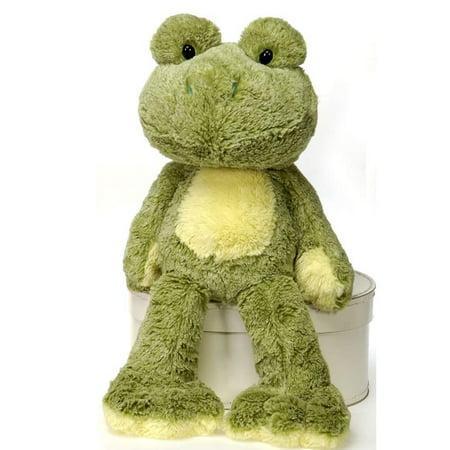 Fiesta Toys Fuzzy Folk Sitting Ivy Bean Bag Frog 16'' Inches My Stuffed Plush Animal Pet