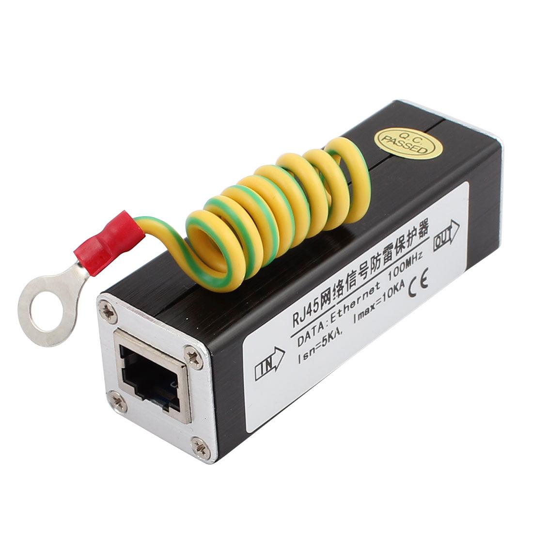 N-989IP RJ45 Port PoE+/Gigabit Network Signal Surge Protector Lightning Arrester