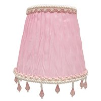 """Royal Designs Chandelier Lamp Shade - 3"""" x 5"""" x 4.5"""" - Ruche Pleated Empire - Pink - Clip-On"""