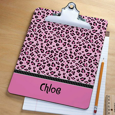 Personalized Sassy Leopard Clipboard