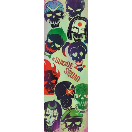 Suicide Squad   Movie Door Poster   Print  Faces   Size  21  X 62