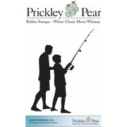 "Prickley Pear Cling Stamps 1.75""X1""-Fishing With Dad"