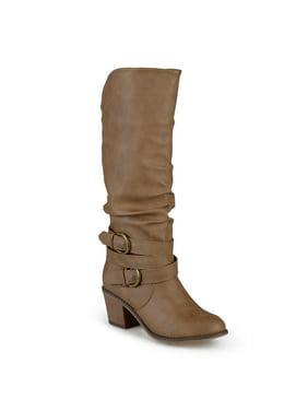 Women's Slouch Buckle High Heel Boots