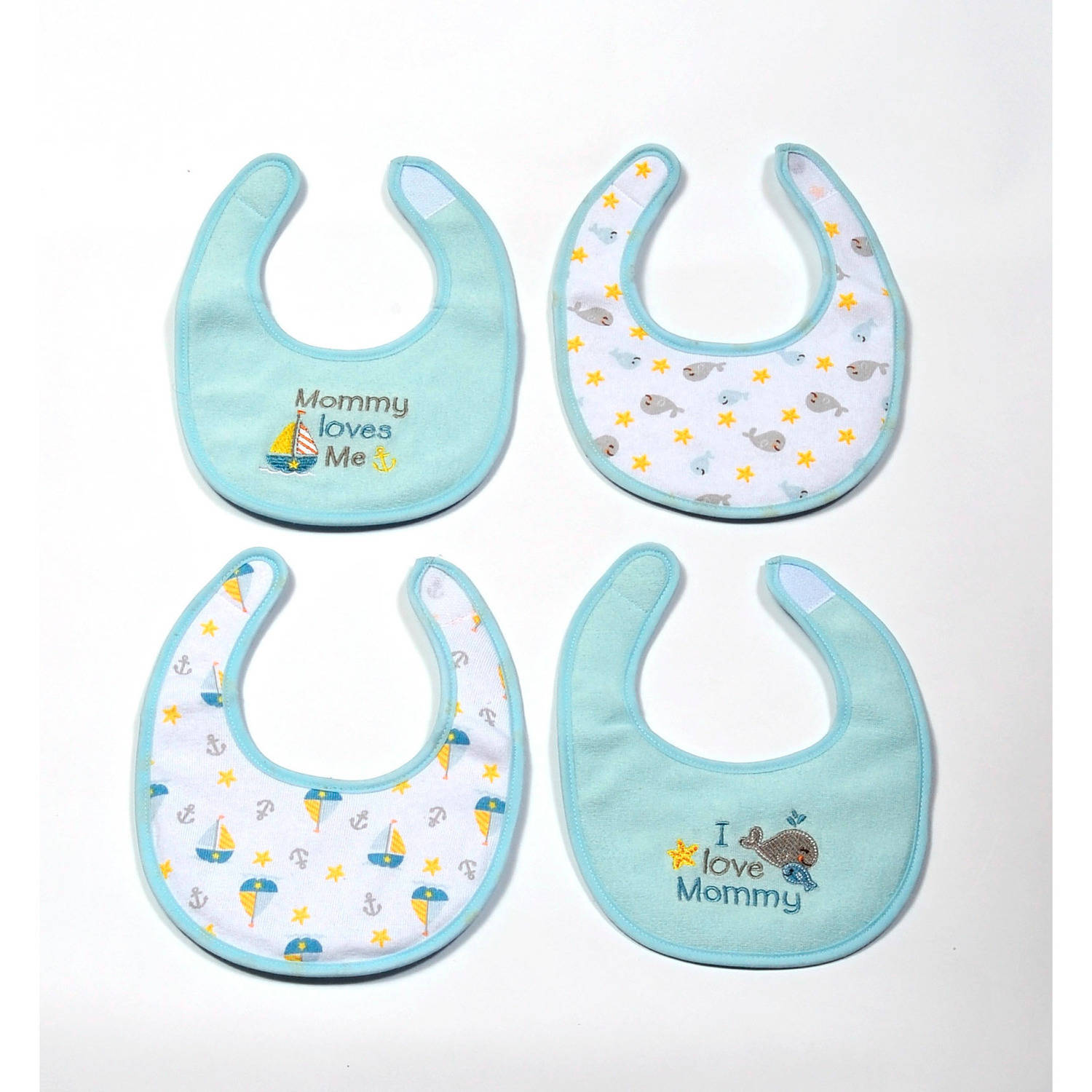Newborn Boy Bibs, Pack of 4