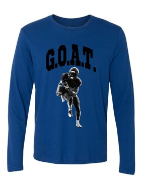 Product Image Greatest Of All Times G.O.A.T Football Mens Long Sleeve T- Shirt 8e9183d3f025