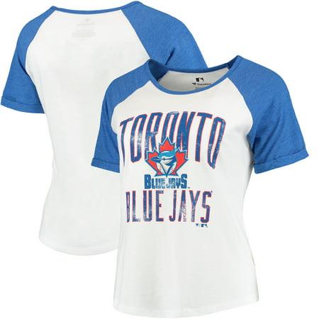 Toronto Blue Jays Women's Timeless Serenity Baseball T-Shirt - White