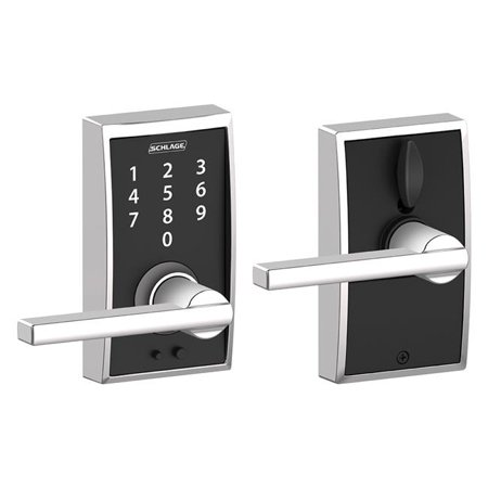 Century X Latitude Lever Touch Lock   Bright Chrome