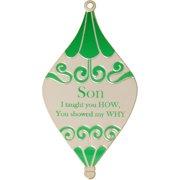Silvertone Son Bulb Ornament