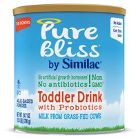 Pure Bliss by Similac Toddler Drink with Probiotics, Starts with Fresh Milk from Grass-Fed Cows, Non-GMO Toddler Formula, 24.7 ounces, 4 Count
