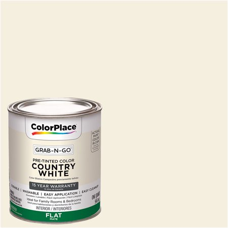 Colorplace Grab N Go Interior Paint Flat Finish Country White 1 Quart