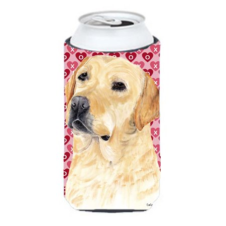 Labrador Yellow Hearts Love Valentines Day Tall Boy bottle sleeve Hugger - image 1 de 1