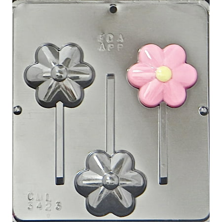 3423 Flower Lollipop Chocolate Candy Mold (Candy Lollipop Molds)