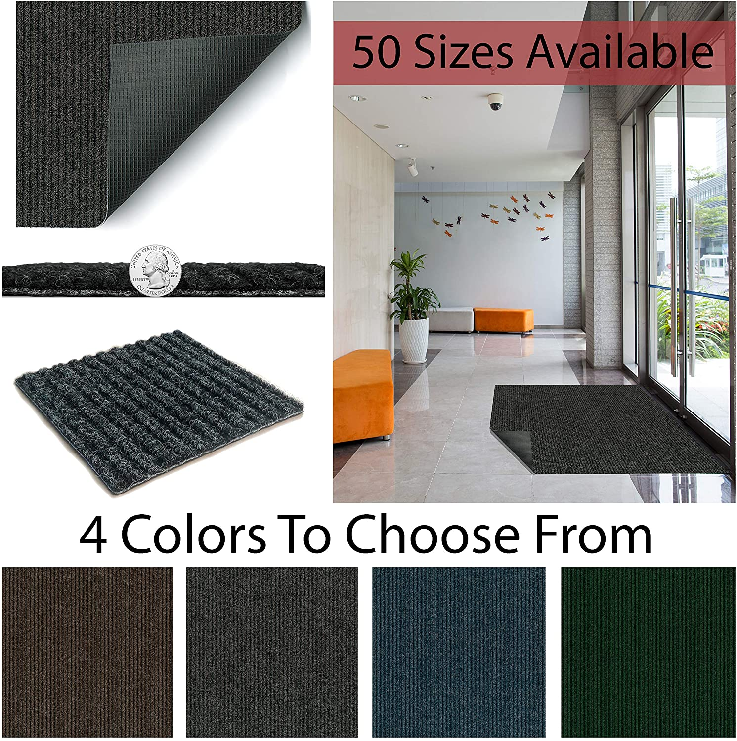 4' X 8' Heavy Duty Durable All Weather Indoor/Outdoor Non