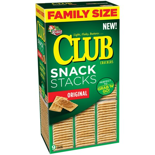 Keebler Club Snack Stacks Original Crackers, 18.8 oz