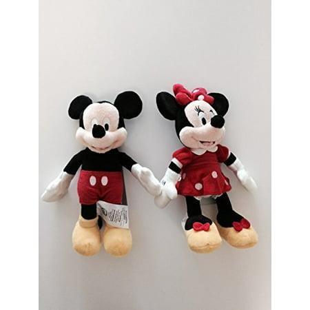 Mickey Mouse & Minnie Mouse Plush Set- Mini Bean Bags