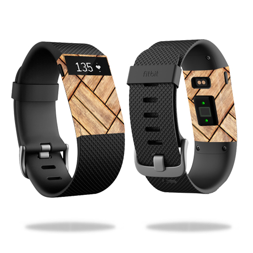 Skin Decal Wrap for Fitbit Charge HR cover skins sticker watch Parquet