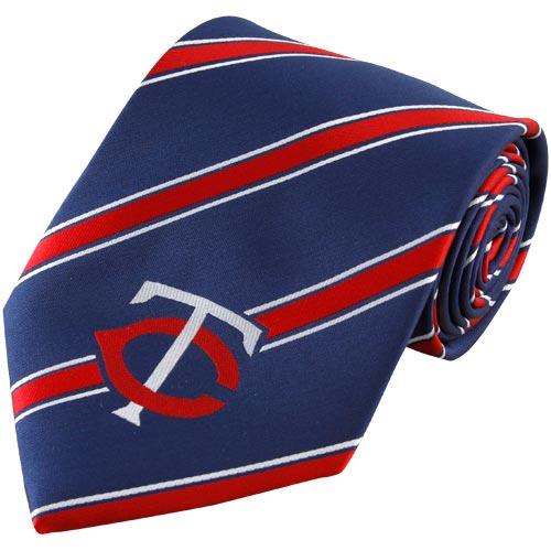 Minnesota Twins Woven Poly Striped Tie - No Size