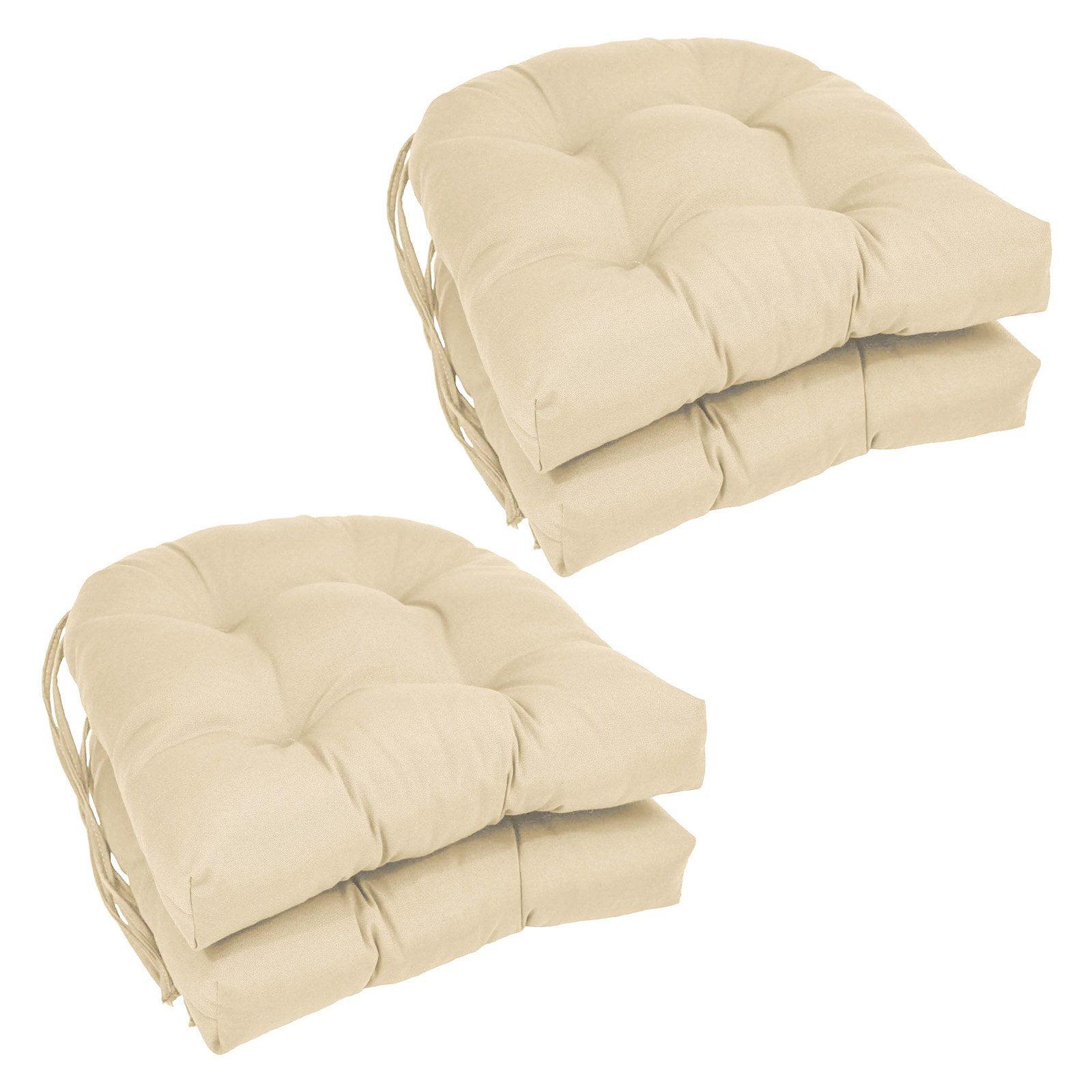 Blazing Needles U Shape 16 X In Twill Dining Chair Cushions Set Of 4 Com