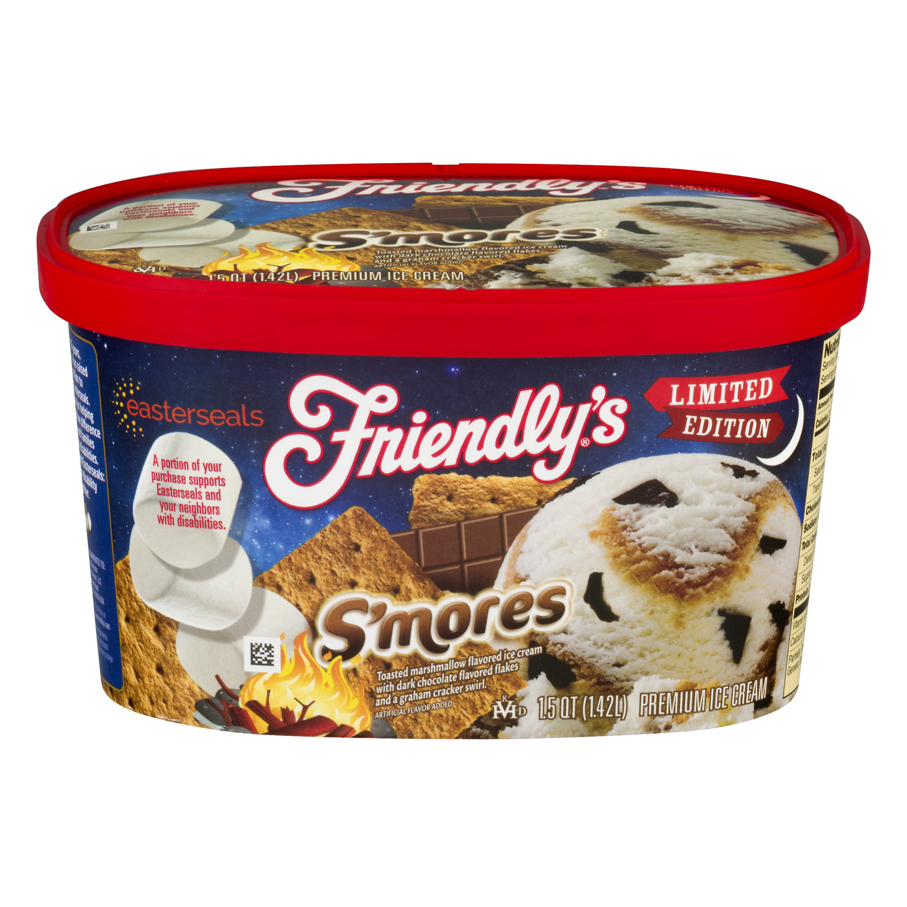 Friendly's Limited Edition S'mores Ice Cream, 1.5 qt