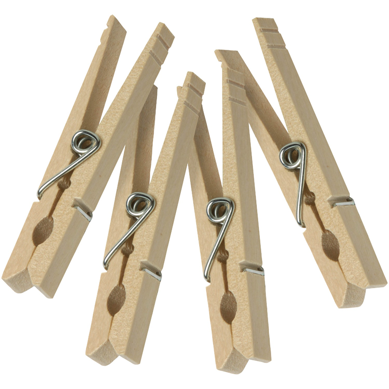 Honey-Can-Do DRY-01375 Classic Clothespin, 10 lb, Spring Opening, Wood, Natural