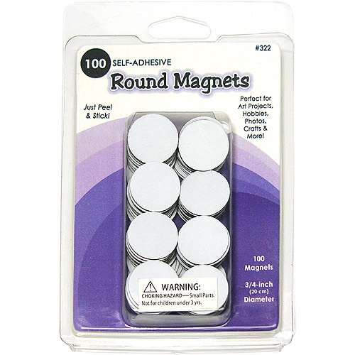 Round Magnets, 100pk, .75""