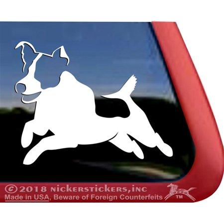 Jumping Jack Russell Terrier | High Quality Vinyl JRT Dog Window - Rydell High