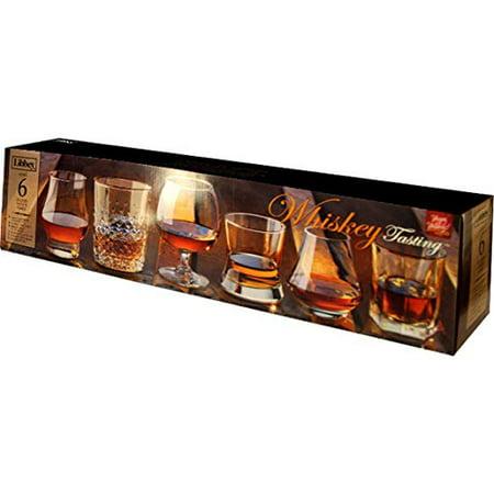 Libbey Whiskey Tasting Glasses, Assortment Set of 6 Libbey Fluted Whiskey Glass