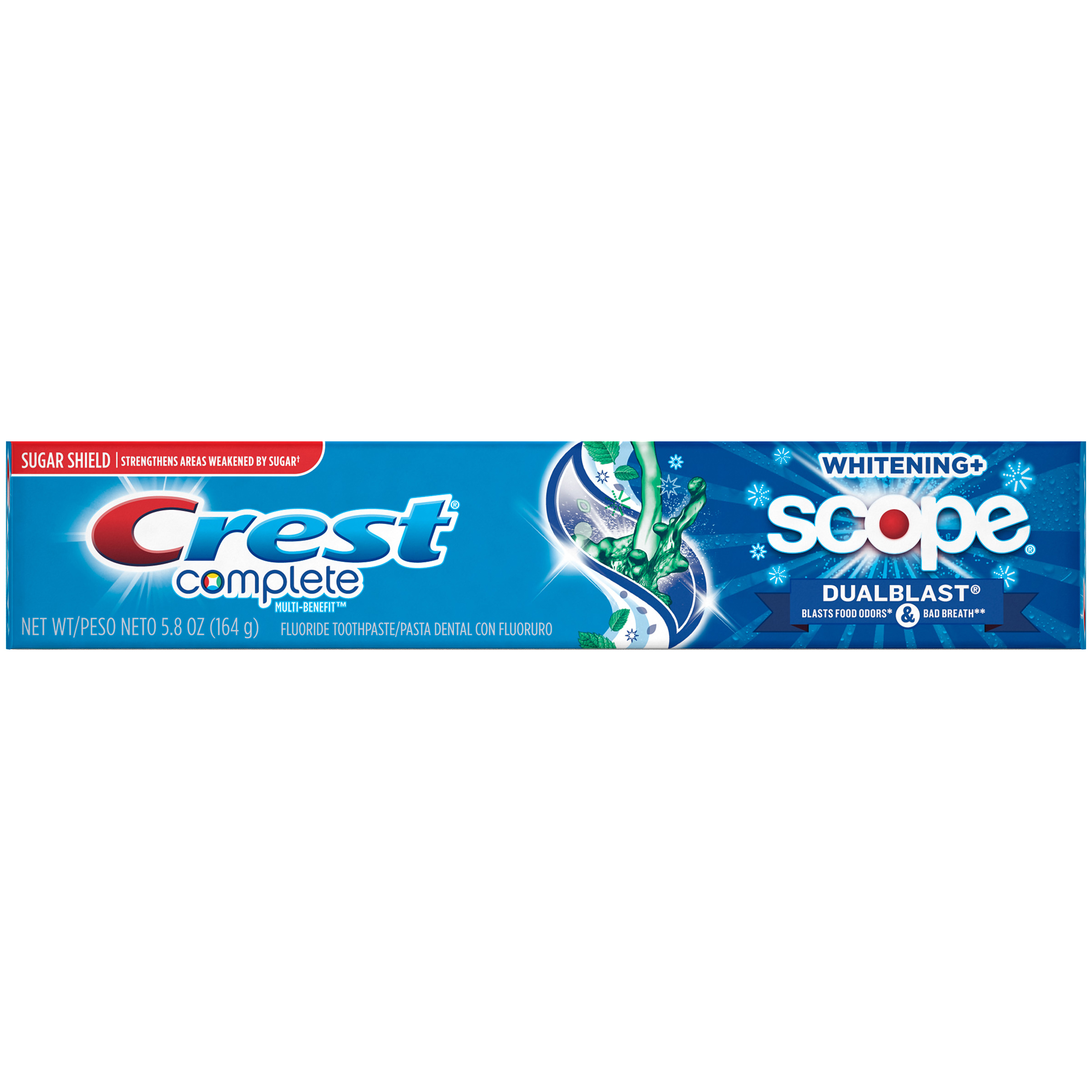 Crest Complete Multi-Benefit Whitening + Scope DualBlast Toothpaste, Mint, 5.8 Ounce