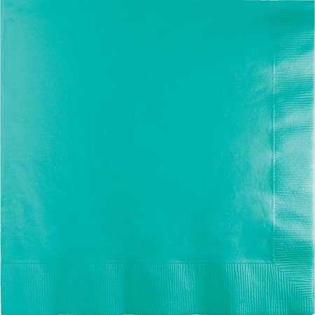 Teal Napkins (Club Pack of 250 Decorative Teal Lagoon 3-Ply Dinner Napkins)