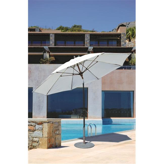 Galtech 9 ft. Bronze Manual Tilt Umbrella - Jockey Red Sunbrella