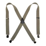 Size one size Men's Elastic with Anti Slip Pin Clip 1 1/2 Inch Solid Suspenders