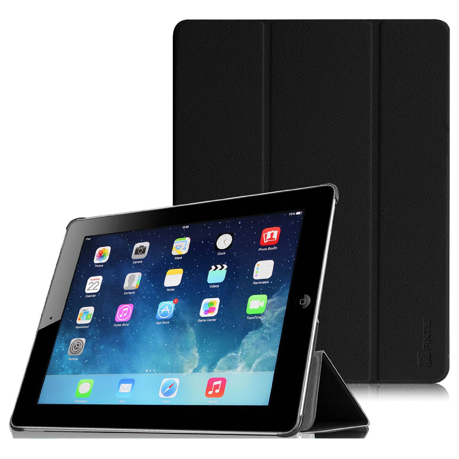 Fintie SmartShell Case for Apple iPad 4th Generation with Retina Display, iPad 3 & iPad 2, Black