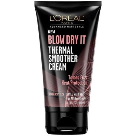 L'Oreal Paris Advanced Hairstyle Blow Dry It Thermal Smoother Cream 5.1 oz (Pack of - 1950 Hairstyles