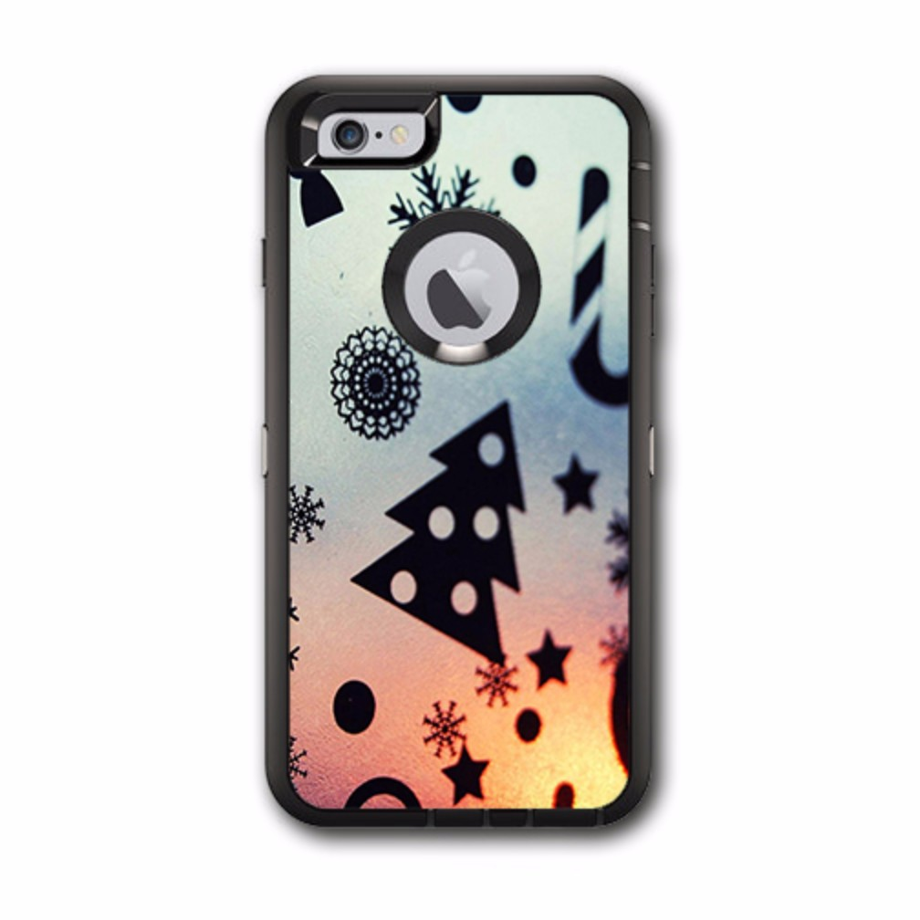 Skin Decal For Otterbox Defender Iphone 6 Plus Case / Christmas Collage