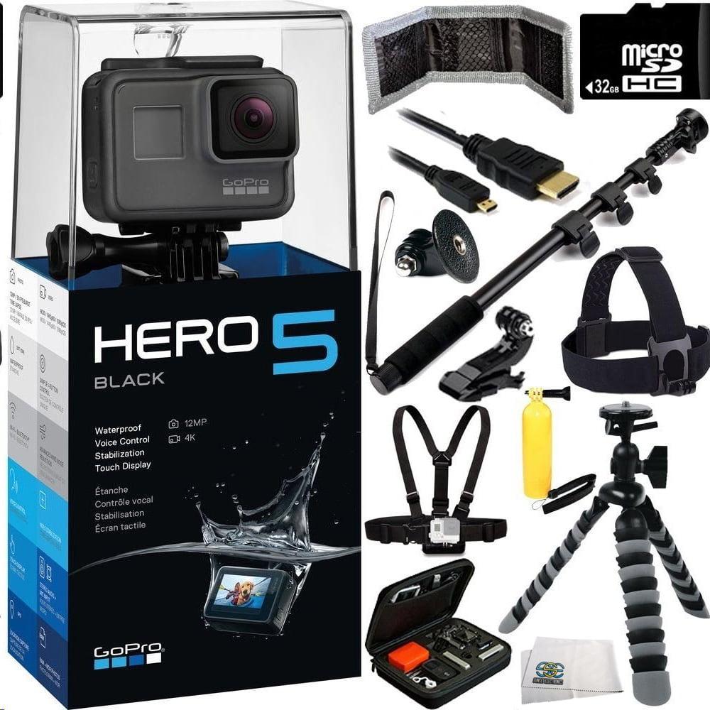GoPro HERO5 Black 32GB Bundle 12PC Accessory Kit - Includ...