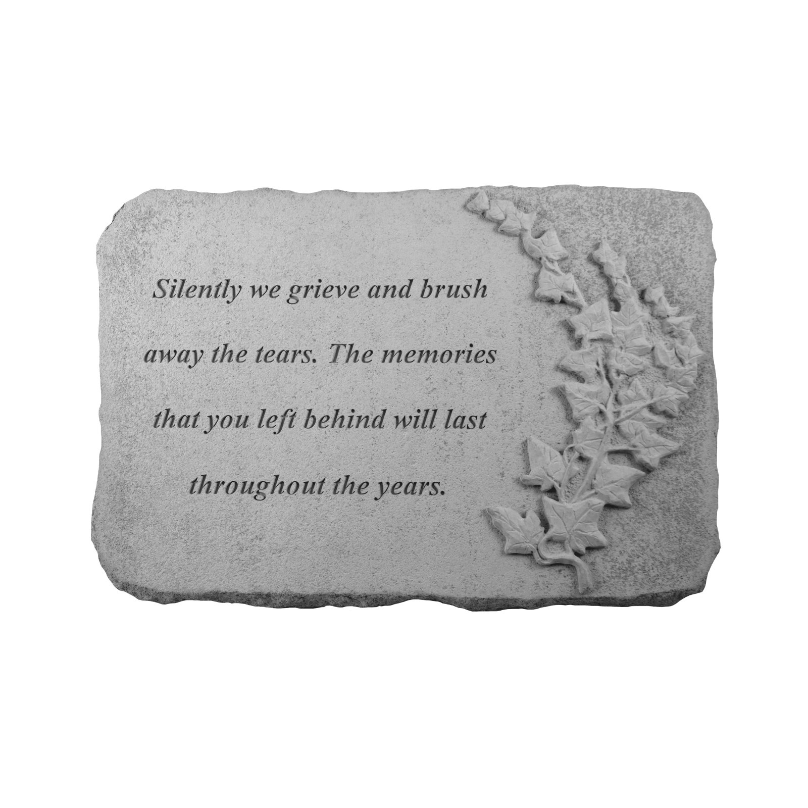 Kay Berry Silently We Grieve Memorial Stone - Ivy Design