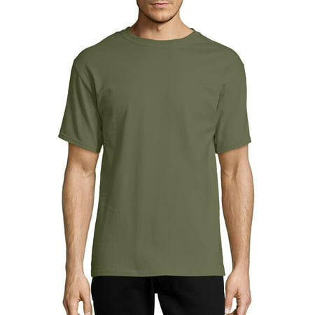 Hanes Men's Tagless Short Sleeve Tee (Hanes Black Skirt)