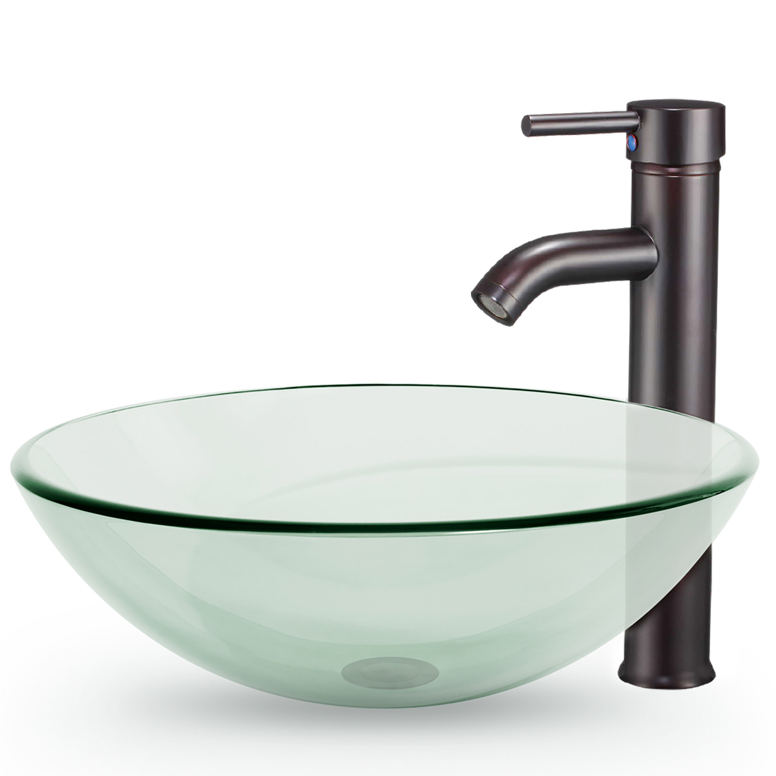 Bathroom Vessel Sink With Faucet and Pop-Up Drain Combo ...