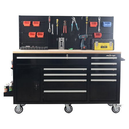 2 Station Workbench - FRONTIER 62 inch Heavy Duty Mobile Work Station Tool Organizer