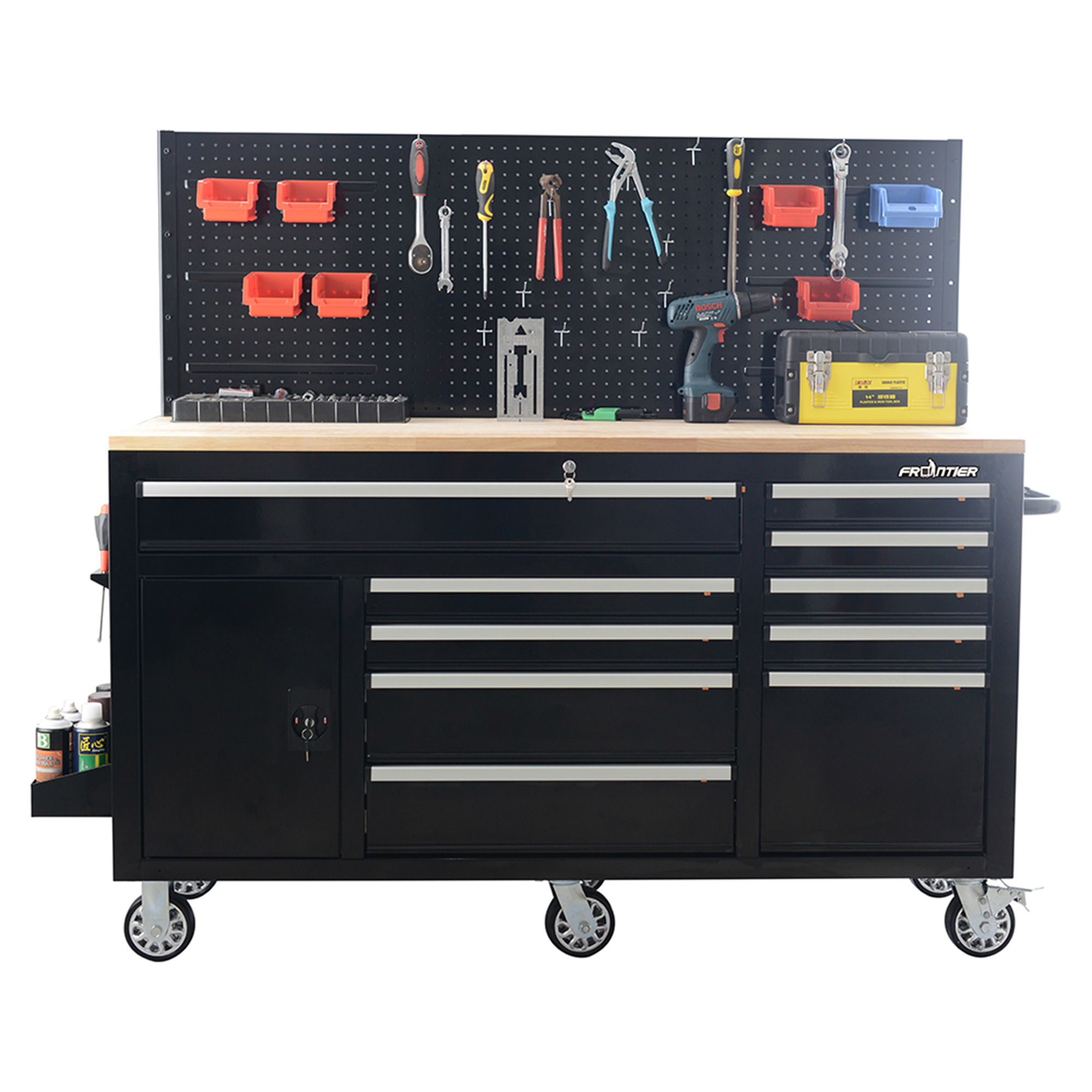 FRONTIER 62 inch Heavy Duty Mobile Work Station Tool Organizer